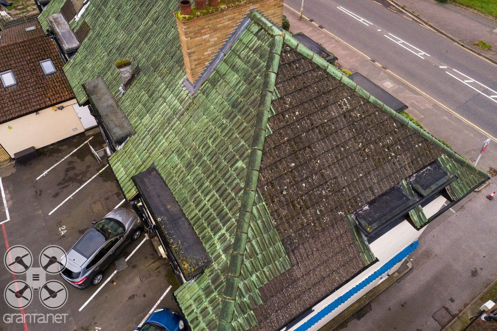 Drone roof inspection image